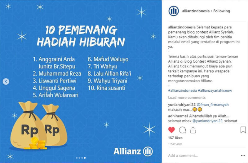 allianz blog contest